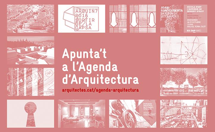 Apunta't a l'Agenda d'Arquitectura